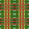Vektor Cliparts: Nahtlos gestrickt Muster in grünen und roten Farben
