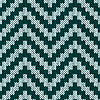 Knitting zigzag seamless pattern in muted colors | Stock Vector Graphics