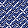 Vektor Cliparts: Nahtlos gestrickt Wellenmuster in kühles Blau