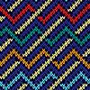 Vektor Cliparts: Nahtlos gestrickt Mehrfarbenwellenmuster