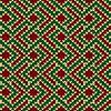 Vektor Cliparts: Nahtlos gestrickt Muster in rot, grün und beige
