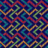 Vektor Cliparts: Nahtlos gestrickt bunte Muster