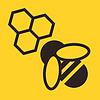 Biene und Bienenwaben-Symbol
