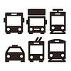 Öffentliche Verkehrsmittel Symbole