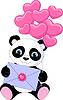 Panda mit Buchstaben