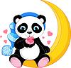 Panda auf Mond