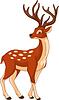Vektor Cliparts: Deer Illustration