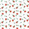 Seamless pattern watercolor rose, Flowers | 光栅插图