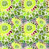 Flowers Seamless Pattern Background - | 向量插图