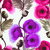 Seamless pattern watercolor poppies | 向量插图
