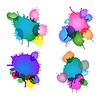 Set ink droplets | 向量插图
