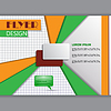 Tło koncepcji do poziomego ulotki | Stock Vector Graphics