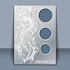 Karta z ozdoby ręcznie rysunek | Stock Vector Graphics