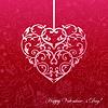 Papier Herz auf dem nahtlosen mit Liebe Symbol
