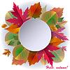 Herbst-Hintergrund mit Rahmen und Blätter