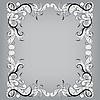 Векторный клипарт: Филигрань кадр с эскиза каракулей украшения