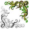 Векторный клипарт: Эскизные болваны декоративные цветочные план
