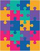 Векторный клипарт: красочная головоломка