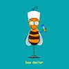 Векторный клипарт: пчела врач