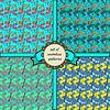 Set von nahtlosen Mustern mit dragonfly-