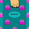 Hand hält Paket mit nahtlose Muster mit Geschenk