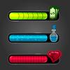 Game resource bar | Stock Vector Graphics