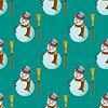 Nahtloses Muster mit Schneemann