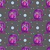 Nahtloses Muster mit niedlichen Cartoon monsters-