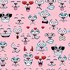 Nahtlose Muster mit unterschiedlichen Emotionen