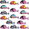 Векторный клипарт: Элегантность рыбы бесшовные модели и бесшовные