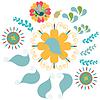 Векторный клипарт: Цветочный орнамент узор, изображение