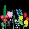 Karten mit gemalten Blumen. Schöne bunte s. De
