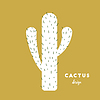 Cactus with needles | Stock Vector Graphics