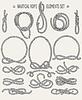 Nautical Rope Elements Set   Stock Vector Graphics