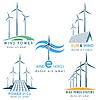 Wind und Sun Power machen Logo