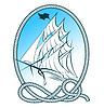 Segelschiff-Emblem