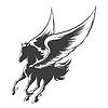 Engraving Winged Pferd
