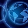 Globe in Raum Hintergrund