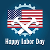 Happy Labor Day Emblem | Stock Vector Graphics