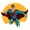Standing Superhero | Stock Vector Graphics