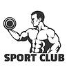 Vektor Cliparts: Bodybuilding oder Fitness-Studio-Emblem