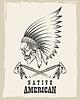 Indian Skull mit Tomahawk Emblem