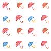 Векторный клипарт: фон зонтики