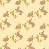 Vektor Cliparts: Muster von Kaninchen und Karotten