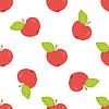 Vektor Cliparts: Verzierungen von Äpfeln