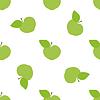 Vektor Cliparts: Muster von grünen Äpfeln
