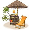 Beach Bar Concept | Stock Vector Graphics