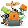 Camping Concept z plecakiem | Stock Vector Graphics