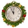 Neues Jahr-Konzept mit Uhr