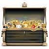 Alte Holztruhe mit Gold | Stock Vektrografik